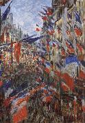 Claude Monet Rus Saint-Denis,Festivities of 30 June oil painting reproduction
